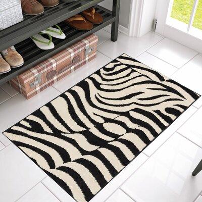 Emeline Zebra Black/Tan Area Rug Rug Size: 23 x 311
