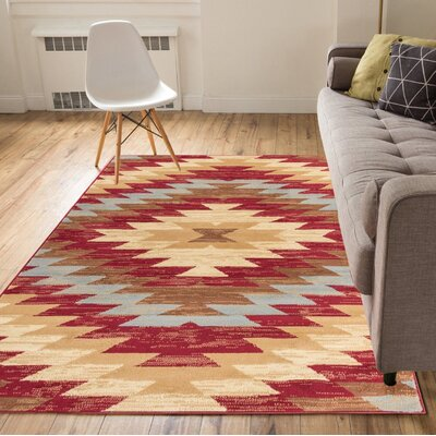 Binstead Southwestern Power Loom Red Indoor Area Rug Rug Size: 311 x 53