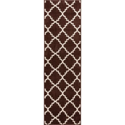 Lewis Lattice Brown Area Rug Rug Size: Runner 27 x 910
