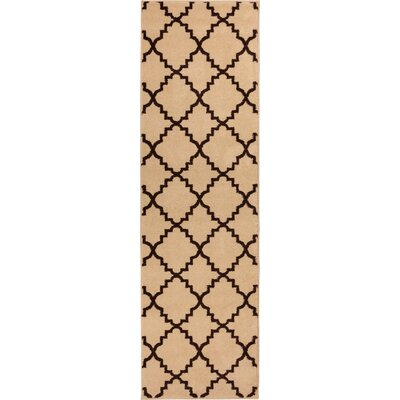 Lewis Lattice Ivory Area Rug Rug Size: Runner 27 x 91