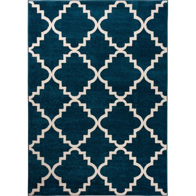 Lewis Lattice Blue Area Rug Rug Size: Rectangle 33 x 47