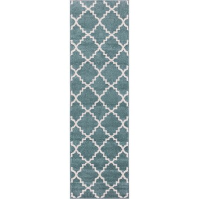 Lewis Lattice Light Blue Area Rug Rug Size: Runner 27 x 91