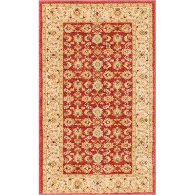 Allerdale Traditional Oriental Red/Beige Area Rug Rug Size: 23 x 311