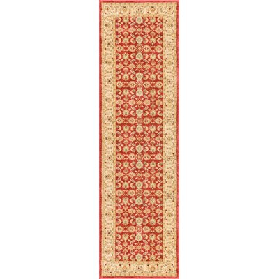 Allerdale Traditional Oriental Red/Beige Area Rug Rug Size: Runner 23 x 73