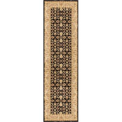 Allerdale Traditional Oriental Black/Beige Area Rug Rug Size: 23 x 73 Runner