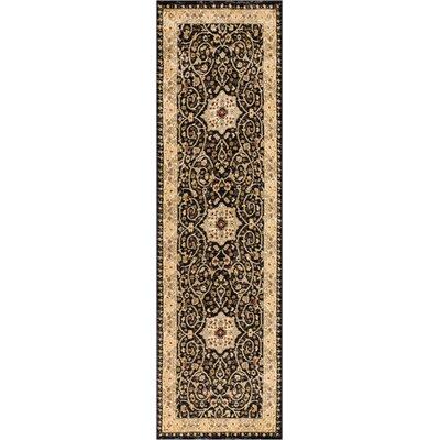 Allerdale Traditional Oriental Black/Beige Area Rug Rug Size: Runner 23 x 73