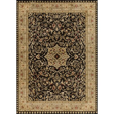 Allerdale Traditional Oriental Black/Beige Area Rug Rug Size: 710 x 106