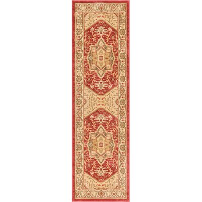Allerdale Medallion Red/Beige Area Rug Rug Size: 23 x 73 Runner
