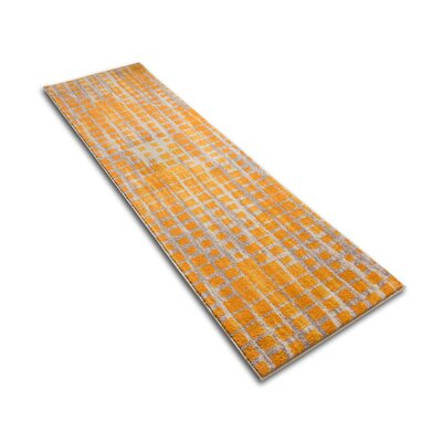 Angie Mid-Century Modern Yellow Area Rug Rug Size: Runner 23 x 73