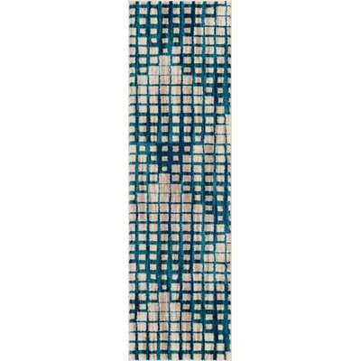 Angie Mid-Century Modern Blue Area Rug Rug Size: Runner 23 x 73