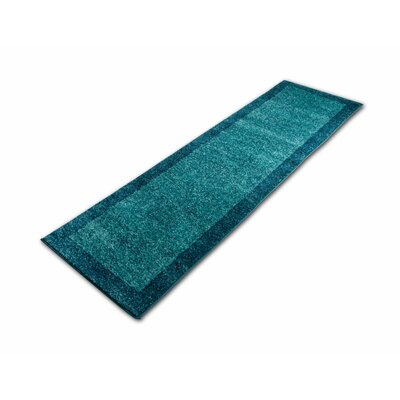 Angie Transitional Ombre Border Distressed Blue Area Rug Rug Size: Runner 23 x 73
