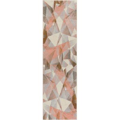 Camren Modern Geometric Prisma Triangle Pink Area Rug Rug Size: 710 x 106