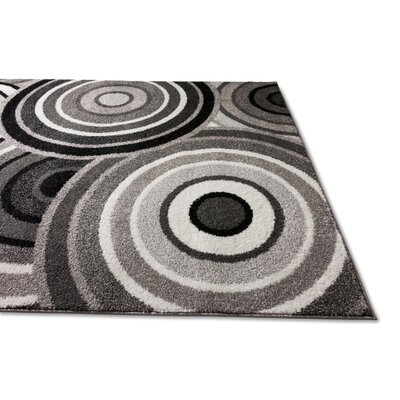 Covin Gray/Black Area Rug Rug Size: 33 x 5