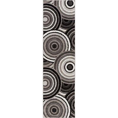 Buckland Gray/Black Area Rug Rug Size: Runner 2 x 73