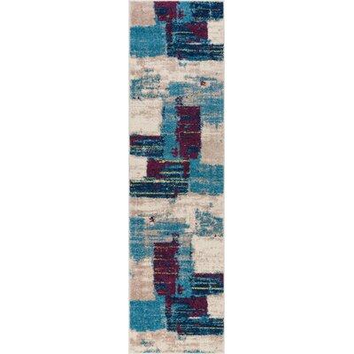Buckland Blue Area Rug Rug Size: Runner 2 x 73