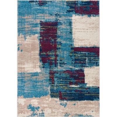 Buckland Blue Area Rug Rug Size: 5 x 7