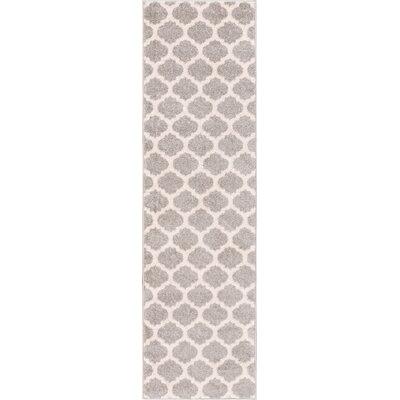 Broxton Modern Trellis Gray Area Rug Rug Size: Runner 2 x 73