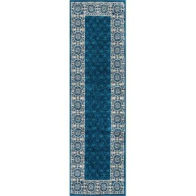 Metropolis Blue Area Rug Rug Size: Runner 2 x 73