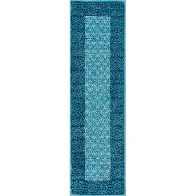 Metropolis Light Blue Area Rug Rug Size: Runner 2 x 73