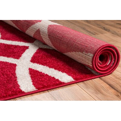 Manning Red Area Rug Rug Size: 2 x 3