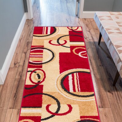 Buckland Red/Yellow Area Rug Rug Size: 2 x 3