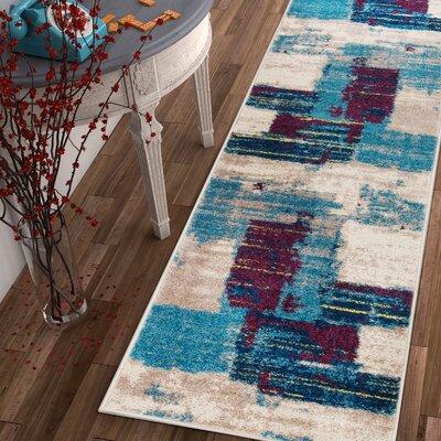 Frandsen Blue Area Rug Rug Size: Runner 2 x 73