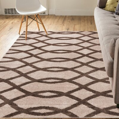Manning Brown Area Rug Rug Size: 2 x 3
