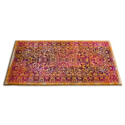 Binstead Modern Distressed Overdyed Power Loom Lavender Area Rug Rug Size: 53 x 73