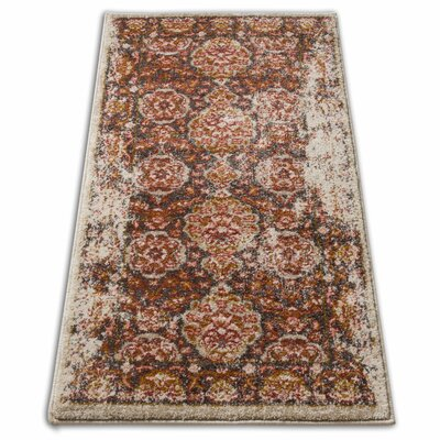 Binstead Traditional Vintage Distressed Power Loom Brown Area Rug Rug Size: 311 x 57