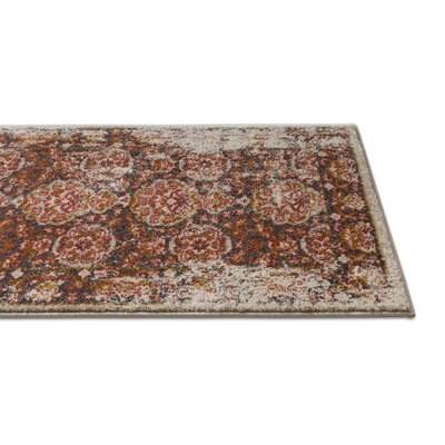Binstead Traditional Vintage Distressed Power Loom Brown Area Rug Rug Size: 53 x 73