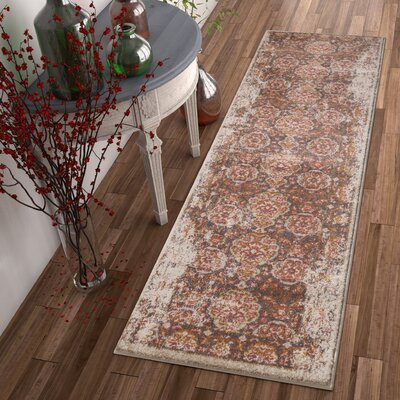 Binstead Traditional Vintage Distressed Power Loom Brown Area Rug Rug Size: Runner 23 x 73