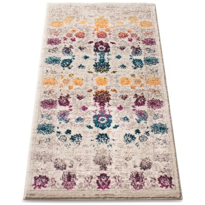 Binstead Modern Boho Oriental Distressed Power Loom Beige/Yellow Area Rug Rug Size: 23 x 311