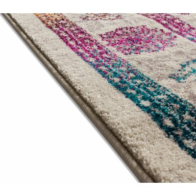 Binstead Modern Boho Oriental Distressed Power Loom Beige/Yellow Area Rug Rug Size: Runner 23 x 73