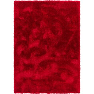 Mcclain Modern Solid Farmhouse Red Area Rug Rug Size: 33 x 5