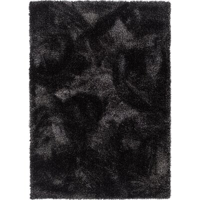 India Modern Solid Country Black Area Rug Rug Size: 710 x 910