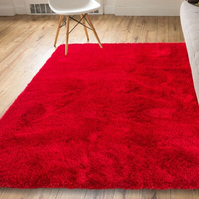 Mcclain Modern Solid Farmhouse Red Area Rug Rug Size: 53 x 73
