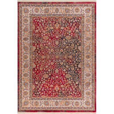 Paschall Traditional Oriental Farmhouse Red Area Rug Rug Size: 710 x 96