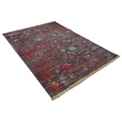 Bridgegate Modern Distressed Vintage Red/Brown Area Rug Rug Size: 53 x 77