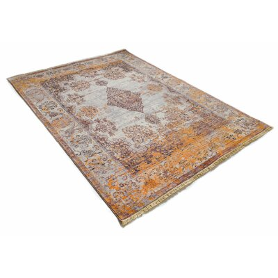 Bridgegate Modern Boho Distressed Gold Area Rug Rug Size: 311 x 57
