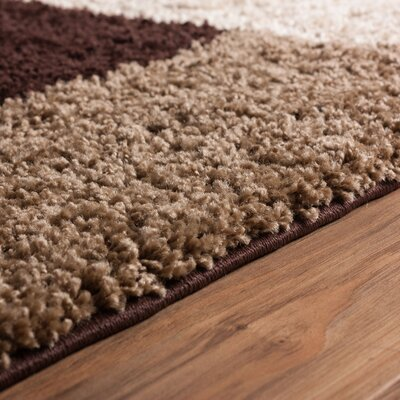 Marci Beige/Brown Indoor Area Rug Rug Size: 33 x 53