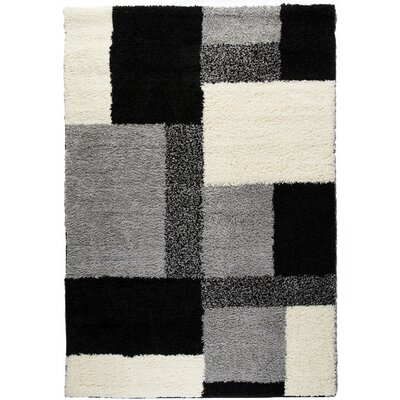 Marci Black Indoor Area Rug Rug Size: 33 x 53