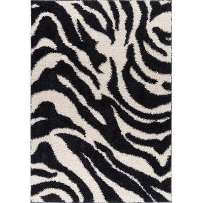 Dondre Black Indoor Area Rug Rug Size: 2 x 3