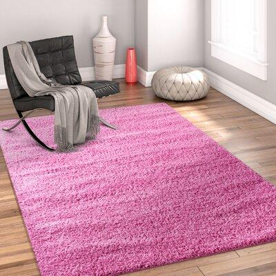 Dondre Fuchsia Indoor Area Rug Rug Size: 67 x 910