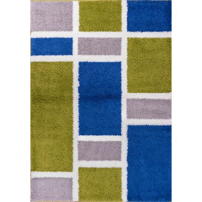 Dondre Green/Blue Indoor Area Rug Rug Size: 67 x 910