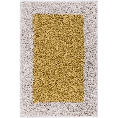 Dondre Gold Indoor Area Rug Rug Size: 33 x 53