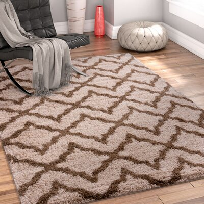 Walraven Beige/Brown Indoor Area Rug Rug Size: 33 x 53