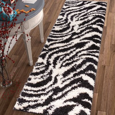 Dondre Black Indoor Area Rug Rug Size: Runner 2 x 73