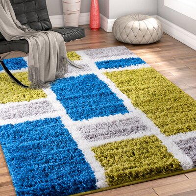Dondre Green/Blue Indoor Area Rug Rug Size: 2 x 3