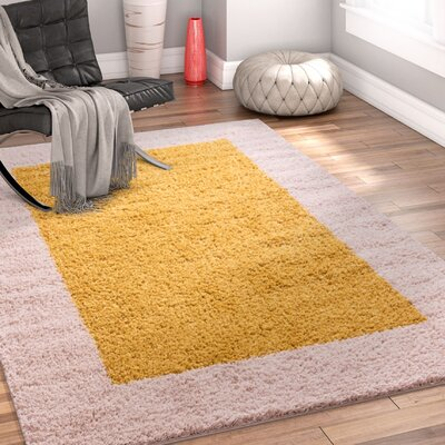 Dondre Gold Indoor Area Rug Rug Size: 2 x 3