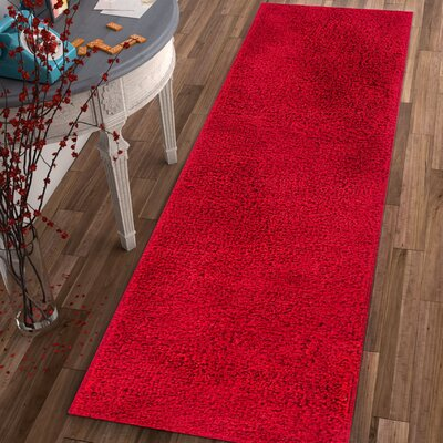 Dondre Red Indoor Area Rug Rug Size: Runner 2 x 73